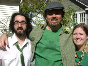 Me With the Tusas At Their Home for The Baton Rouge St. Patrick's Day Parade