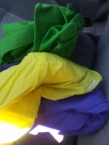 Even My Grocery Bags Are Mardi Gras Colors!