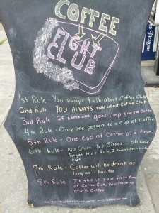 The Rules For Coffee Fight Club