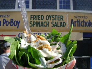 Jazzfest2013 Fried Oyster Salad