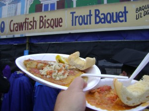Jazzfest2013 Trout Baquet & Crawfish Bisque