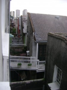 My Favorite French Quarter View: Leaning Out the Bathroom Window!