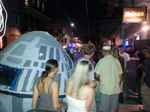 Chewbacchus Gather by the Death Star Outside of Maison