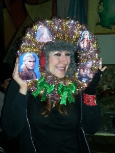 Chrissy With her 'Wreath Of Khan'