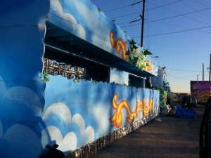 Our Waiting Float: Jefferson Avenue for 'Morpheus Cruises the Streets of New Orleans'
