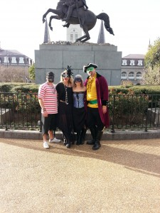 The Pirate Krewe In Jackson Square