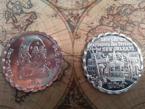 2014 'Morpheus Cruises the Streets of New Orleans' Doubloons