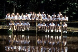 Camp Easter Seals-East Staff  1995: Melvin & I Are Back Center