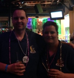 Connie & Eddie Visiting the Krewe Before We Loaded (Courtesy of Connie Hibben)