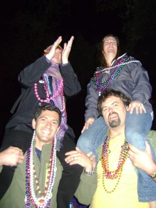 In 2011 My Jacksonville Friends Lustily Catching Beads I'd Throw Back in 2014