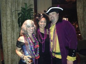 Aimee & I Donning Robin Barnes With Beads During Her Show