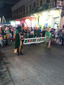 St. Patrick's Parade In The French Quarter