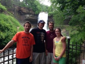I Begin My Journey At Minnehaha Falls (In Town But Not The Major Falls Of The Mississippi) With Janio, Me, Jesse, & Amy