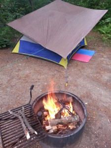 My Successful Tarp & Lint Fueled Fire!