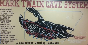 Map Of The Web Like Cavern Passages...No Wonder A Young Twain Got Lost!