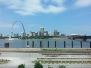 View From The Casino Queen in East St. Louis