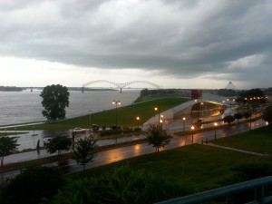 Rain Began To Descend Upon The Memphis Waterfont