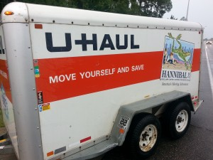 Leaving Last July With U-Haul in Tow